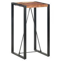 vidaXL Baro stalas, 60x60x110cm, rausvosios dalbergijos masyvas