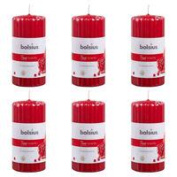 Bolsius Kvepiančios žvakės, 6vnt., 120x58mm, dryžuotos, granatų kvapo