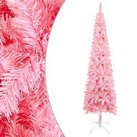 vidaXL Siaura Kalėdų eglutė, rožinės spalvos, 240cm