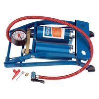 Draper Tools Dviejų cilindrų kojinė pompa, mėlynos spalvos, 25996