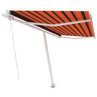 vidaXL Pastatoma ištraukiama markizė, oranžinė/ruda, 400x300cm