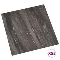 vidaXL Grindų plokštės, 55vnt., pilkos, 5,11m², PVC, prilimpančios