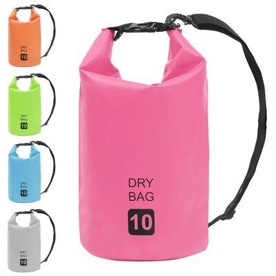 vidaXL Vandeniui atsparus krepšys, rožinės spalvos, PVC, 10l