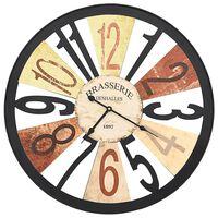 vidaXL Sieninis laikrodis, įvairių spalvų, 60 cm, metalas
