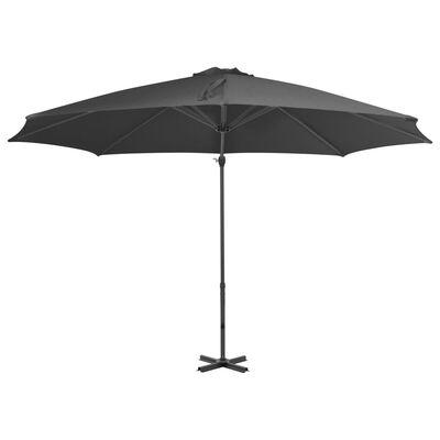 vidaXL Gem. form. saulės skėtis su alium. stulp., antr. sp., 300cm