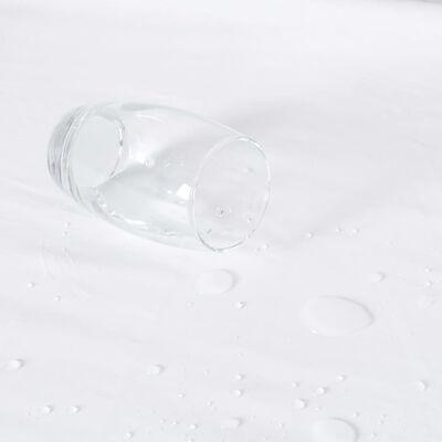 vidaXL Paklodės su guma, 2vnt., baltos, 160x200cm, medvilnė