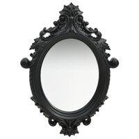 vidaXL Sieninis veidrodis, juodos spalvos, 56x76cm, rūmų stiliaus