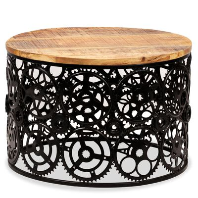 vidaXL Kavos staliukas, masyvi mango mediena, 60x40cm