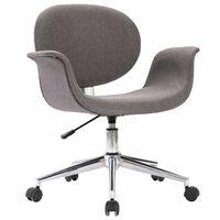 vidaXL Pasukama biuro kėdė, pilkos spalvos, audinys (287395)