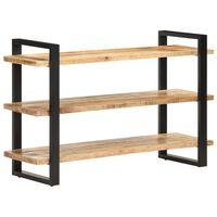 vidaXL Šoninė spintelė su 3 lentynomis, 120x40x75cm, mango mediena