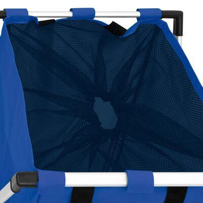 vidaXL Skalbinių rūšiavimo krepšys, mėlynos spalvos
