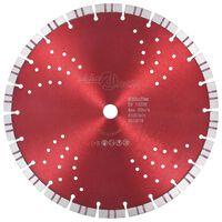 vidaXL Turbo deimantinis pjovimo diskas su angomis, plienas, 300mm