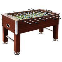 vidaXL Stalo futbolo stalas, rudas, plienas, 60kg, 140x74,5x87,5cm
