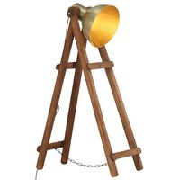 vidaXL Toršeras, žalvario spalvos, mango medienos masyvas, E27