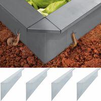vidaXL Plokštės tvorai nuo sraigių, 4vnt., 150x7x25cm, plienas, 0,7mm