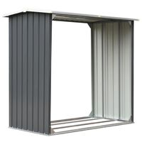 vidaXL Sodo malkinė, galvanizuotas plienas, 172x91x154cm, pilka