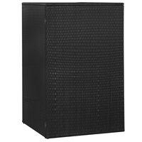 vidaXL Konteinerio stoginė, juoda, 76x78x120cm, poliratanas, vienvietė