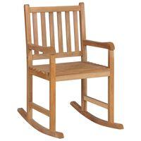 vidaXL Supama kėdė, tikmedžio medienos masyvas