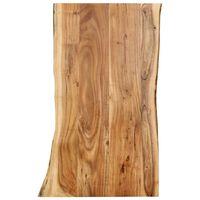 vidaXL Stalviršis, 100x(50-60)x2,5cm, akacijos medienos masyvas