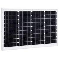 vidaXL Saulės energijos plokštė, aliuminis, apsauginis stiklas, 40W