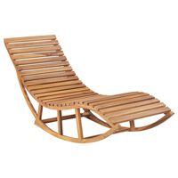 vidaXL Supamas saulės gultas, tikmedžio medienos masyvas