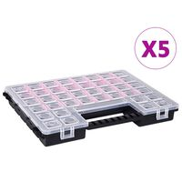 vidaXL Asortimentinės dėžutės, 5vnt., 385x283x50mm, plastikas