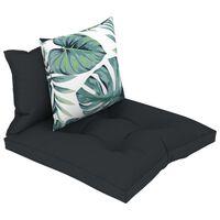 vidaXL Pagalvėlės sofai iš palečių, 3vnt., antracito spalvos, audinys