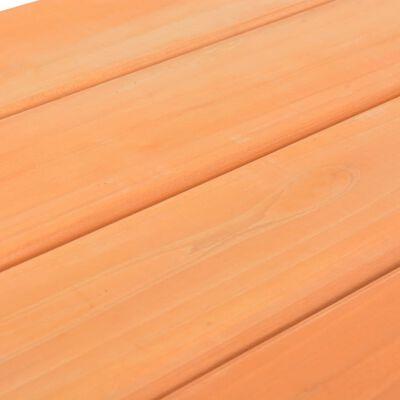 vidaXL Iškylos stalas vaikams su suol., 89x79x50cm, eglės med. mas.