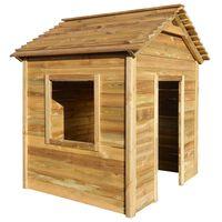 vidaXL Lauko žaidimų namelis, 123x120x146cm, pušies mediena