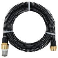 vidaXL Siurbimo žarna su žalvarinėmis jungtimis, juoda, 5m, 25mm