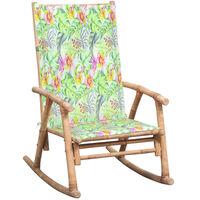 vidaXL Supama kėdė su pagalvėle, bambukas (41894+314122)