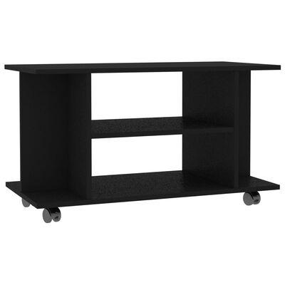 vidaXL TV spintelė su ratukais, juodos spalvos, 80x40x40 cm, MDP
