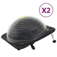 vidaXL Baseino šildytuvai, 2vnt., 75x75x36cm HDPE ir aliuminis