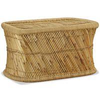 vidaXL Kavos staliukas, 78x50x45cm, bambukas, stačiakampis
