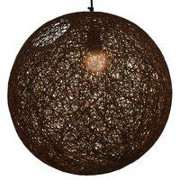 vidaXL Pakabinamas šviestuvas, rudos sp., sferinis, 45cm, E27 lemp.