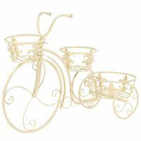 vidaXL Stovas augalams, dviračio formos, vintažinio stiliaus, metalas