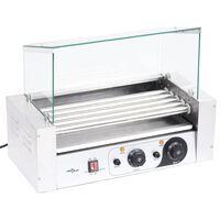 vidaXL Dešrainių gaminimo aparatas su stikliniu dangčiu, 1000W