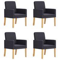 vidaXL Valgomojo kėdės, 4 vnt., tamsiai pilkos sp., audinys (2x280277)
