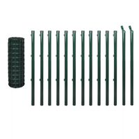 vidaXL Euro tvora, žalia, 25x1m, plienas