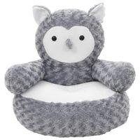 vidaXL Minkštas žaislas pelėda, pilkas, pliušinis