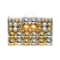 Eglutės žaisliukai, 100vnt., sidabro/aukso spalvos