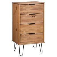 vidaXL Spintelė su stalčiais, medienos/balta, 45x39,5x90,3cm, pušis