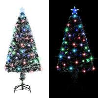vidaXL Dirbtinė Kalėdų eglutė su stovu/LED lemp., 120 cm, 135 šakos