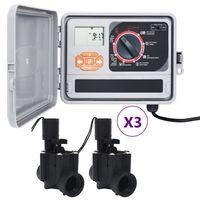 vidaXL Sodo laistymo sistemos valdiklis su 6 solenoido vožtuvais