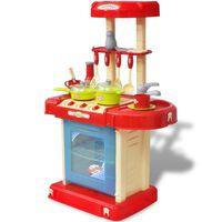 Vaikiška Žaislinė Virtuvė su Šviesos ir Garsų Efektais