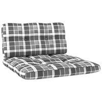 vidaXL Pagalvėlės sofai iš palečių, 2vnt., pilkos spalvos, languotos