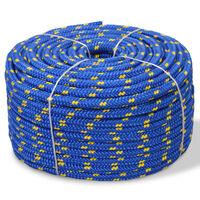 vidaXL Jūrinė virvė, polipropilenas, 14mm, 50m, mėlyna