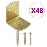 vidaXL Tvoros segmento laikikliai, 48vnt., galvanizuotas metalas
