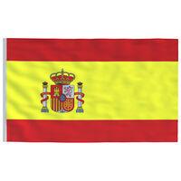 vidaXL Ispanijos vėliava, 90x150cm