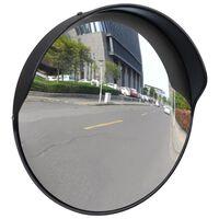 Sferinis kelio veidrodis, juodas, 30cm, PC plastikas, laukui
